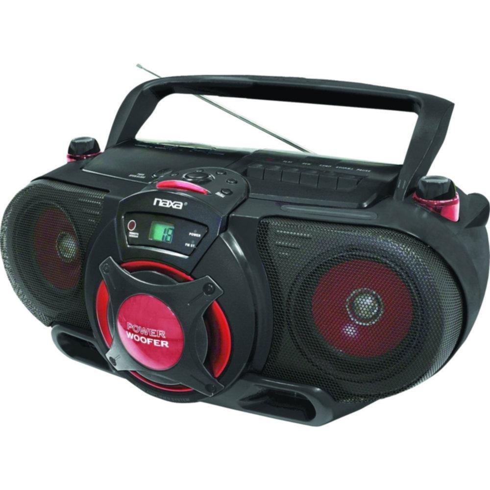 Naxa Portable MP3_CD AM_FM Stereo Radio Cassette Player_R...