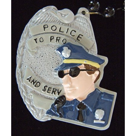 Police Officer Badge Law Enforcement Mardi Gras Beads New Orleans Carnival Bayou Lousianna Cajun Creole Party, Genuine Specialty Mardi Gras.., By Mardi Gras World - Law Enforcement Party Supplies