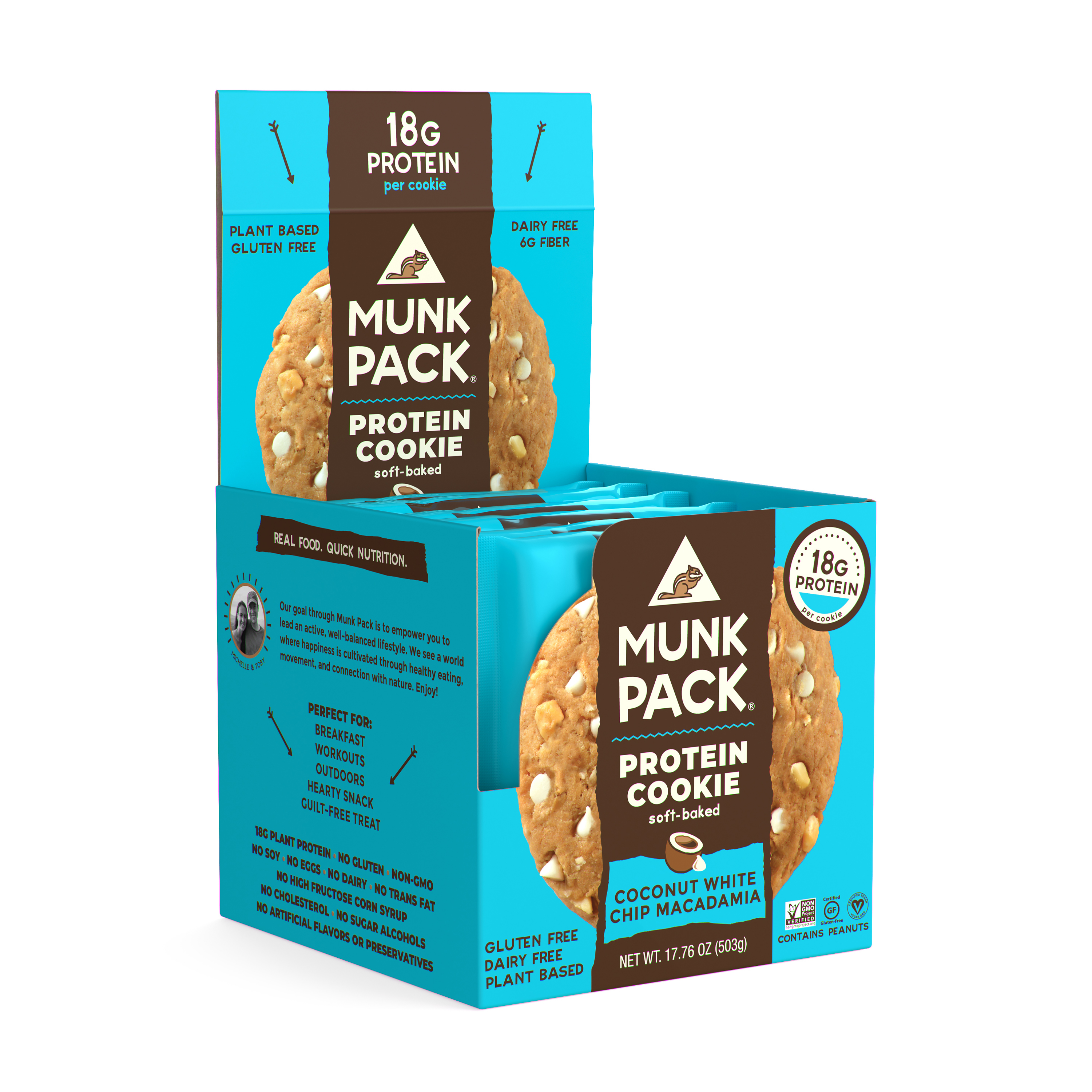 Munk Pack Protein Cookie, Coconut White Chocolate Macadamia, 2.96 Oz, 6 Ct