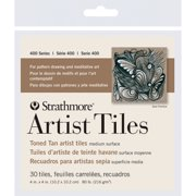 Strathmore Artist Tiles, 4in x 4in, Toned Tan