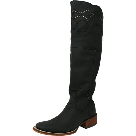 f13b50fa336 Dan Post Boots - Dan Post Women s Misstaken Black Knee-High Leather Boot -  7.5M - Walmart.com