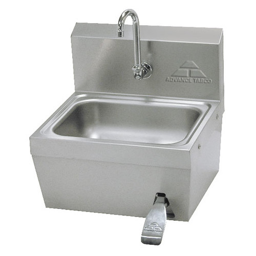 "Image of Advance Tabco 17.25"" x 15.25"" Single Hands Free Hand Sink with Faucet"