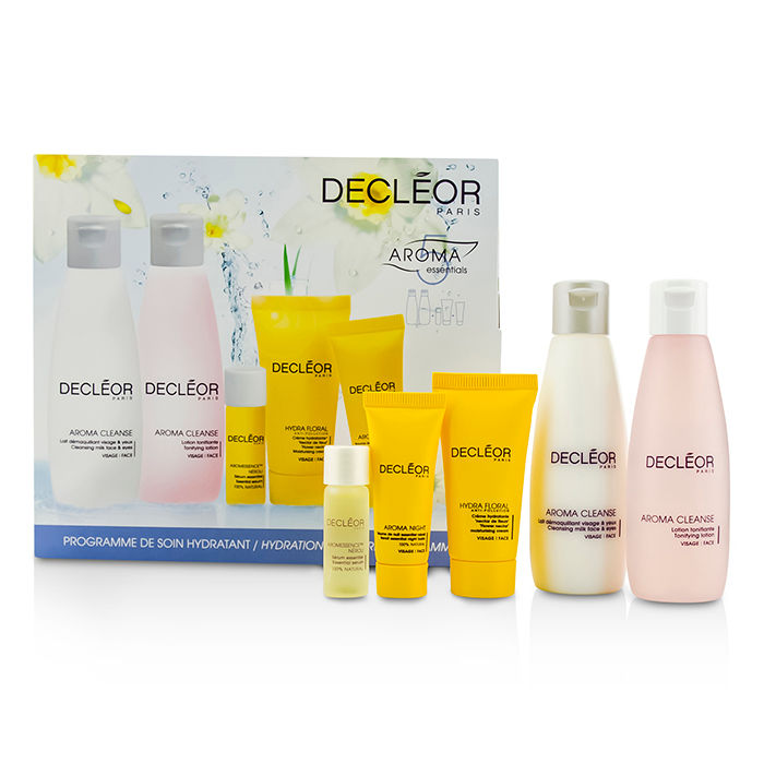 Decleor - Hydration Starter Kit: Cleansing Milk 75ml + Tonifying Lotion 75ml + HydraFloral Cream 15ml + Neroli Serum 5ml + Neroil Balm 5ml - 5pcs