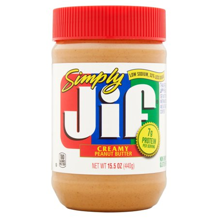 Simply Jif Low Sodium Creamy Peanut Butter  15 5 Oz