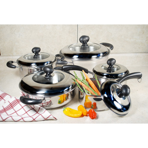 Cook Pro 10-Piece Stainless Steel Cookware Set