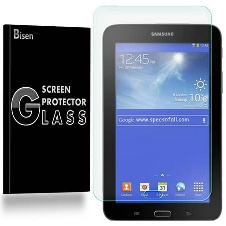 Samsung Galaxy Tab E Lite 7.0 (7 inch) [2-Pack BISEN] Tempered Glass Screen Protector, Anti-Scratch, Anti-Shock, Shatterproof, Bubble (Samsung Galaxy Tab 3 8 Inch Screen)