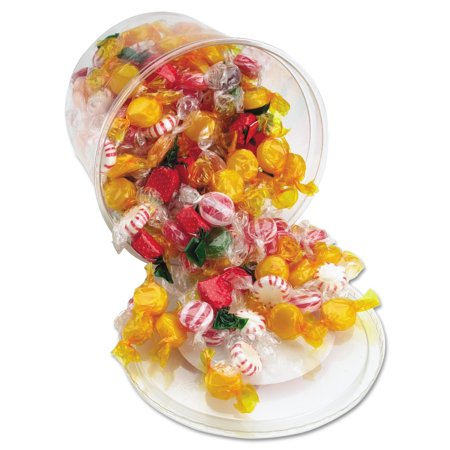 Office Snax Fancy Assorted Hard Candy, Individually Wrapped, 2 lb Resealable Plastic Tub 2 Lb Candy Tubs