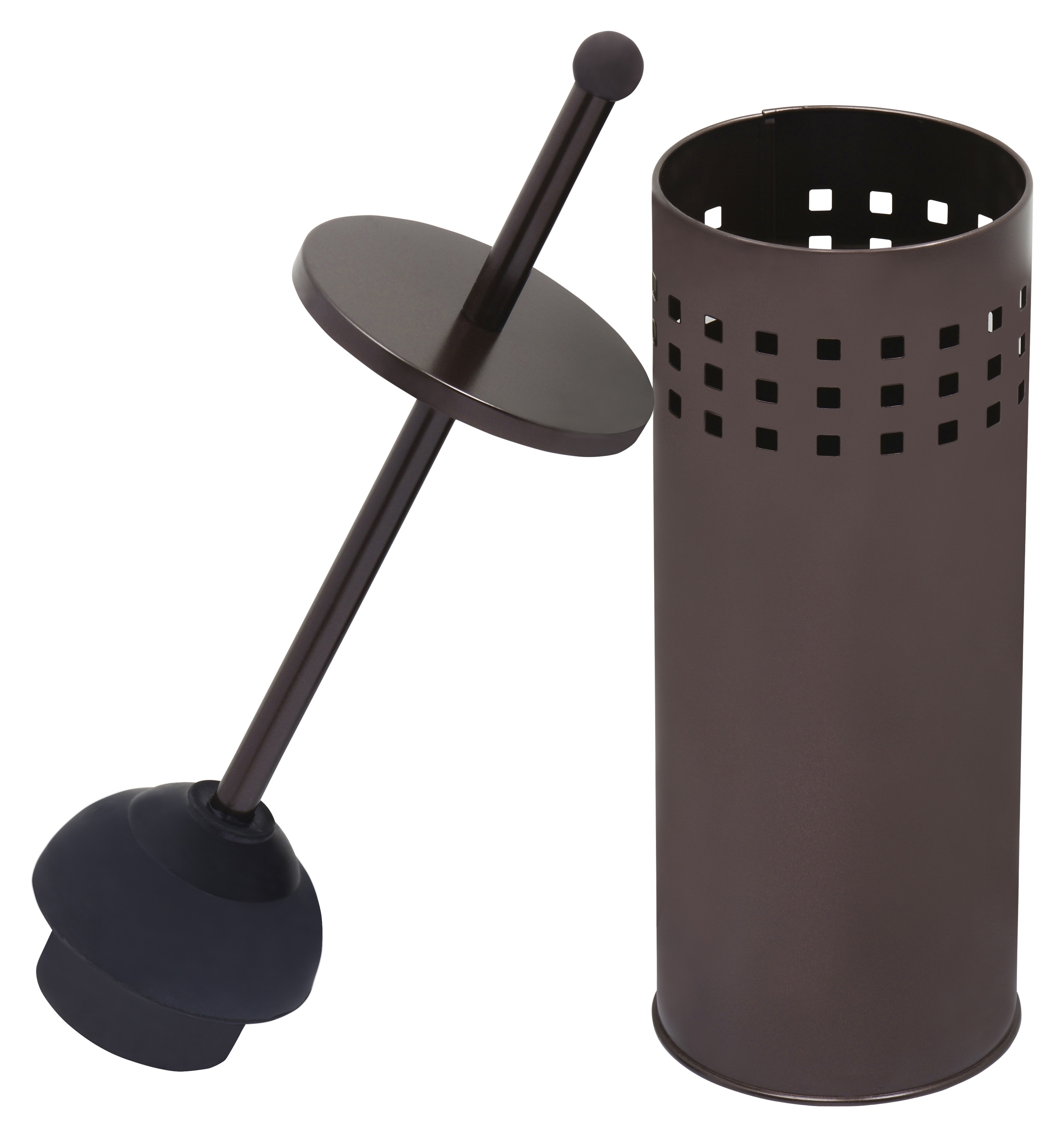 Blue Donuts Aerated Toilet Plunger in Bronze Powder Coated Finish