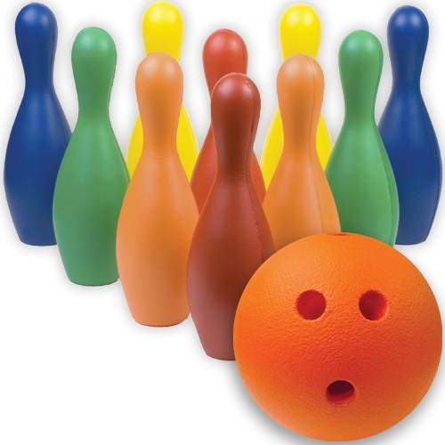 GameCraft® Multi-Color Foam Bowling Pin Set w/ Ball