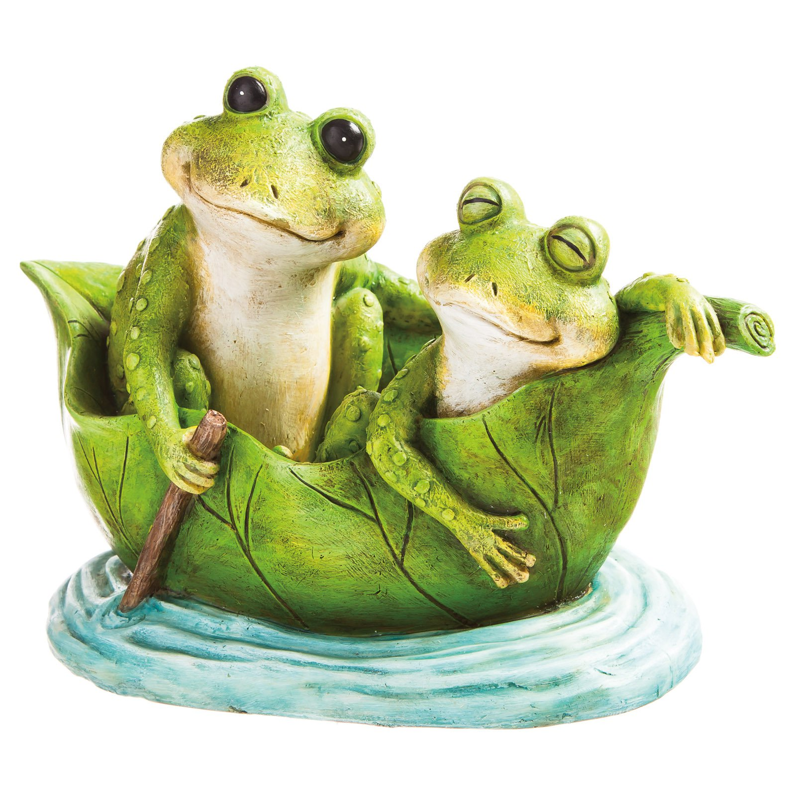 Evergreen Enterprises Love Boat Frog Garden Statue