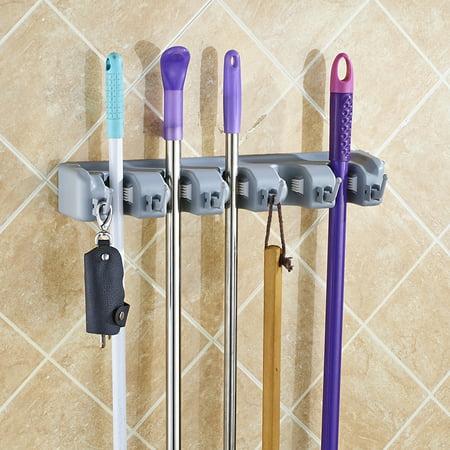 Jeobest Mop Broom Holder Broom Hanger With 5 Positions