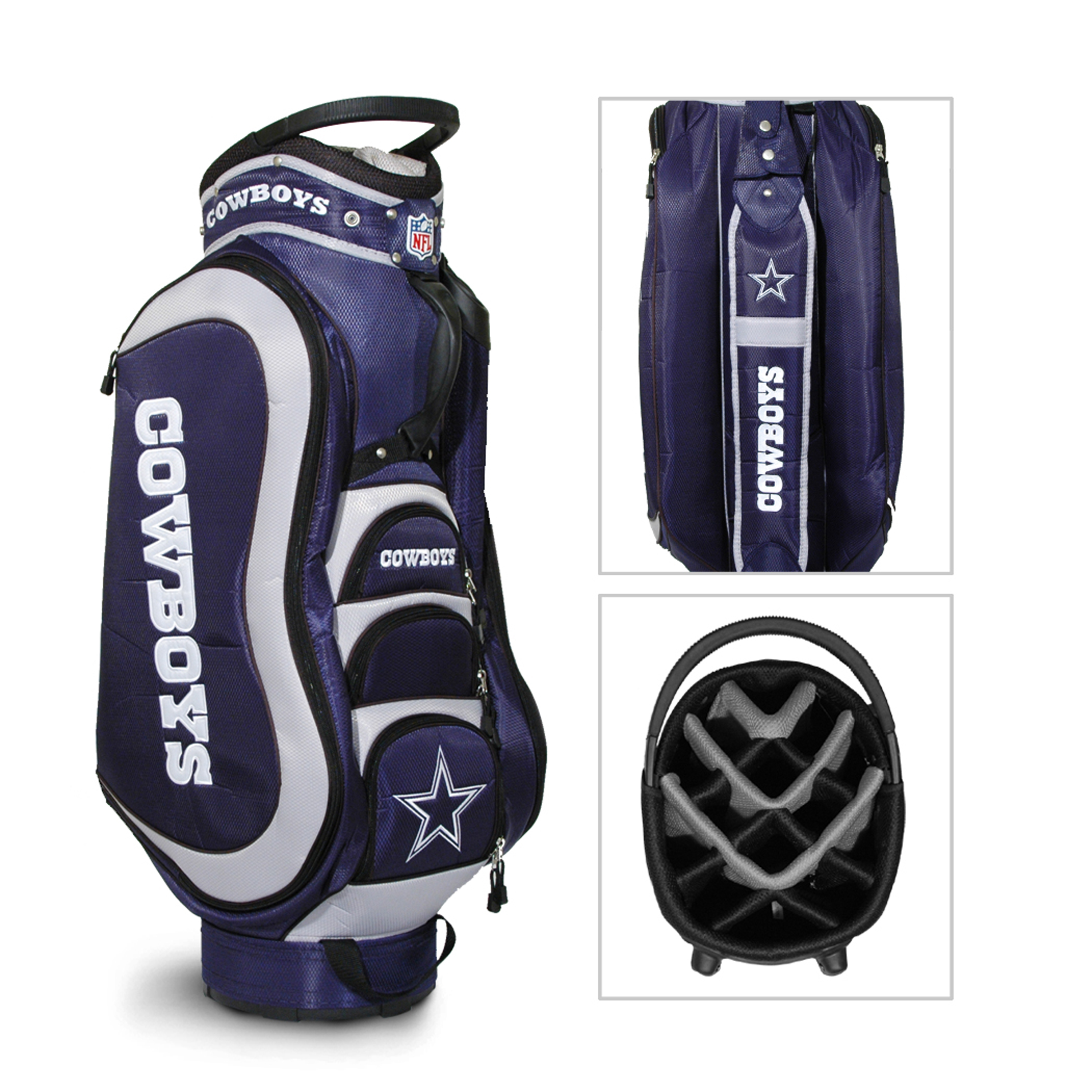 Team Golf NFL Dallas Cowboys Medalist Cart Bag