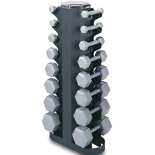 Champion 2-Sided Vertical Dumbbell Rack, Black