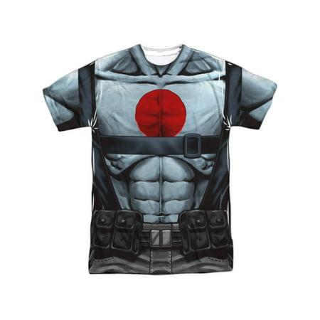 Bloodshot Comics Shirtless Straps Costume Adult Front/Back Print T-Shirt - Val Halloween