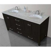 Stufurhome GM-6412-72ES-CR 72 in. Malibu Espresso Double Sink Bathroom Vanity