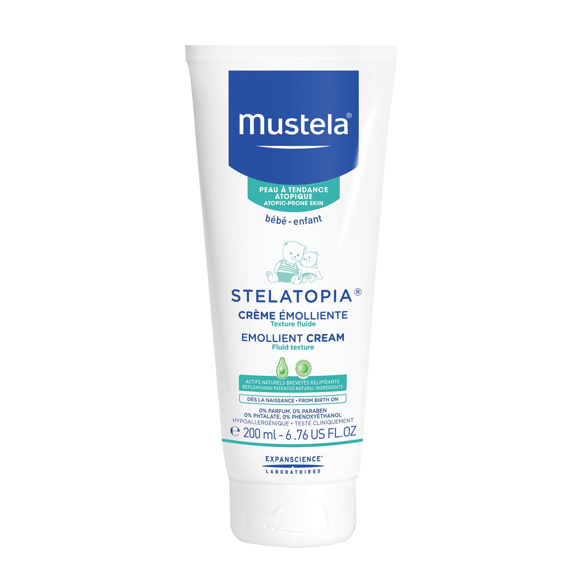 Mustela Stelatopia Baby Emollient Cream, Fragrance-Free Baby Lotion for Eczema-Prone Skin, 6.7 Oz by Mustela