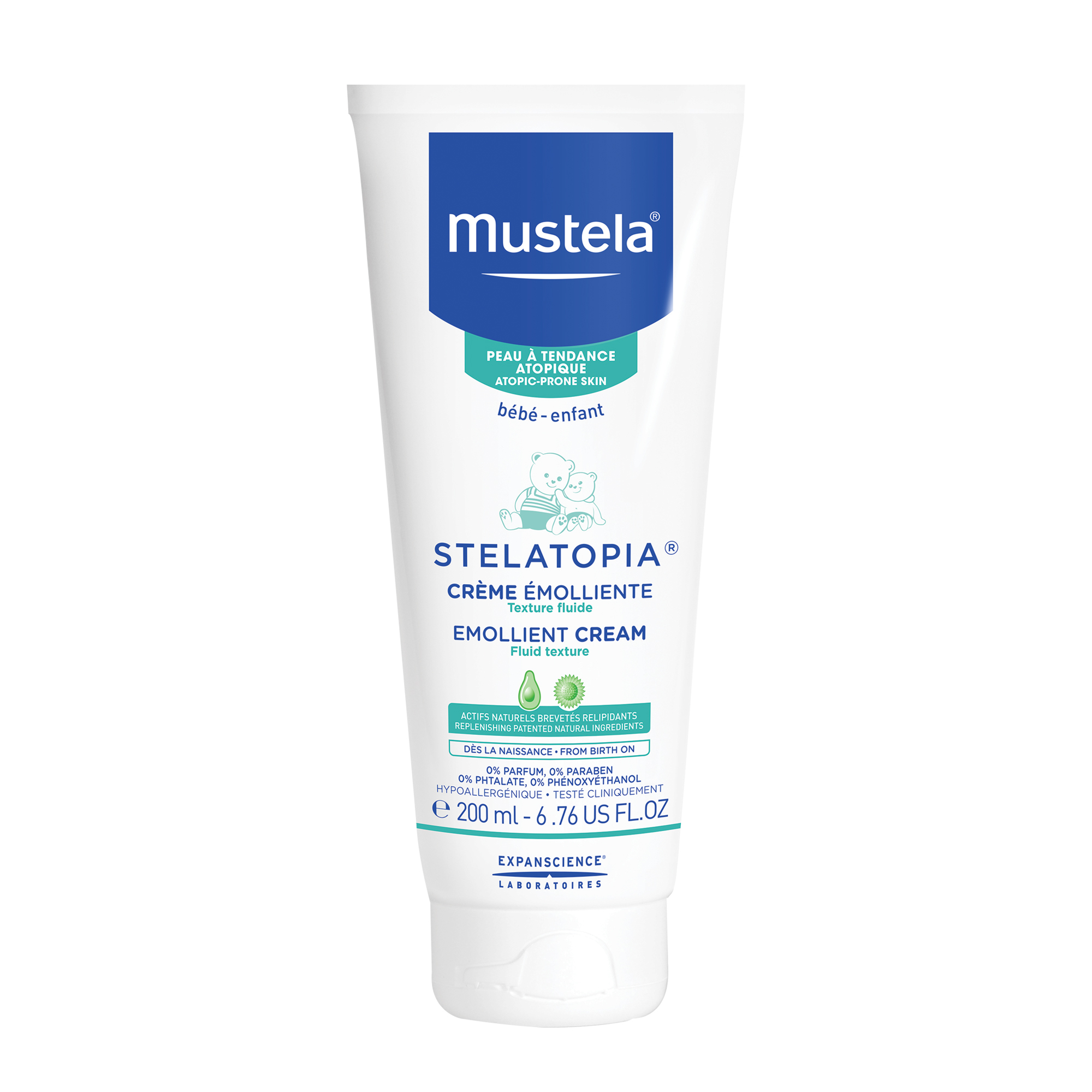 Mustela Stelatopia Baby Emollient Cream, Fragrance-Free Baby Lotion for Eczema-Prone Skin, 6.7 Oz