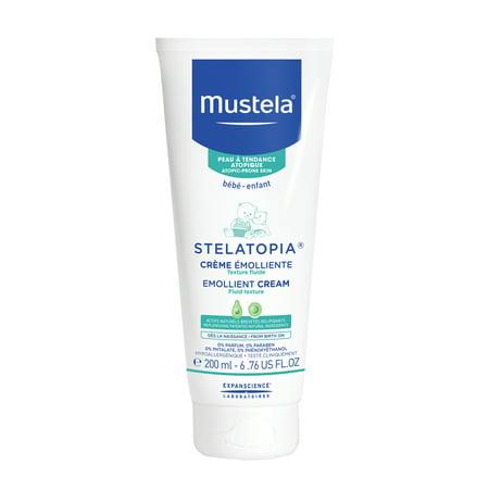 Mustela Stelatopia Baby Emollient Cream for Eczema-Prone Skin, Fragrance-Free, 6.76 fl oz