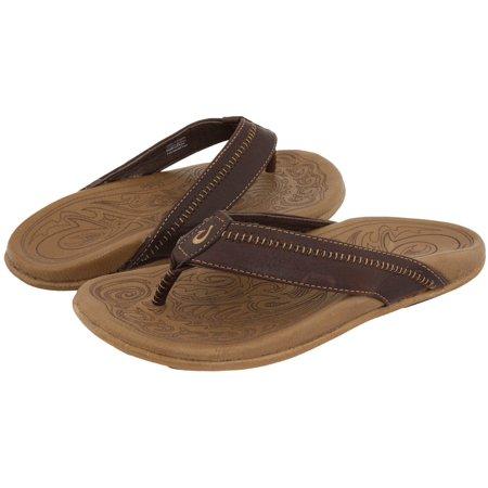 0617fabd13c6 OluKai - Olukai Hiapo Dark Java   Toffee Sandal Men s 12 - Walmart.com
