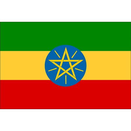 Laminated Poster Ethiopia Country Flag Addis Ababa Amharic Oromo Poster Print 24 x 36 ()