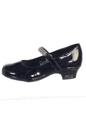 bd5704ff02 Product Image Girls Black Rhinestone Strap Mia Occasion Dress Shoes Kids  11-4