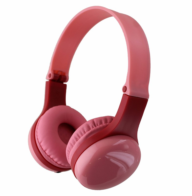 Insignia Kids On-Ear Headphones with Safe Volume Limit and Sharing Port - Pink (Refurbished)