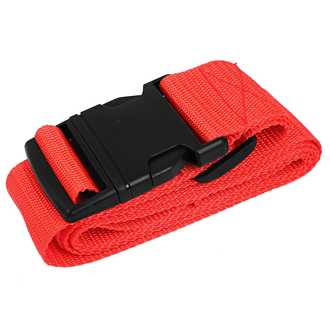 Unique Bargains Side Release Buckle Luggage Suitcase Baggage Adjustable Belt Strap Red 2M