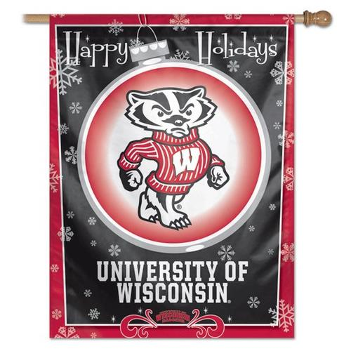 WinCraft University of Wisconsin Badgers Vertical Outdoor House Flag