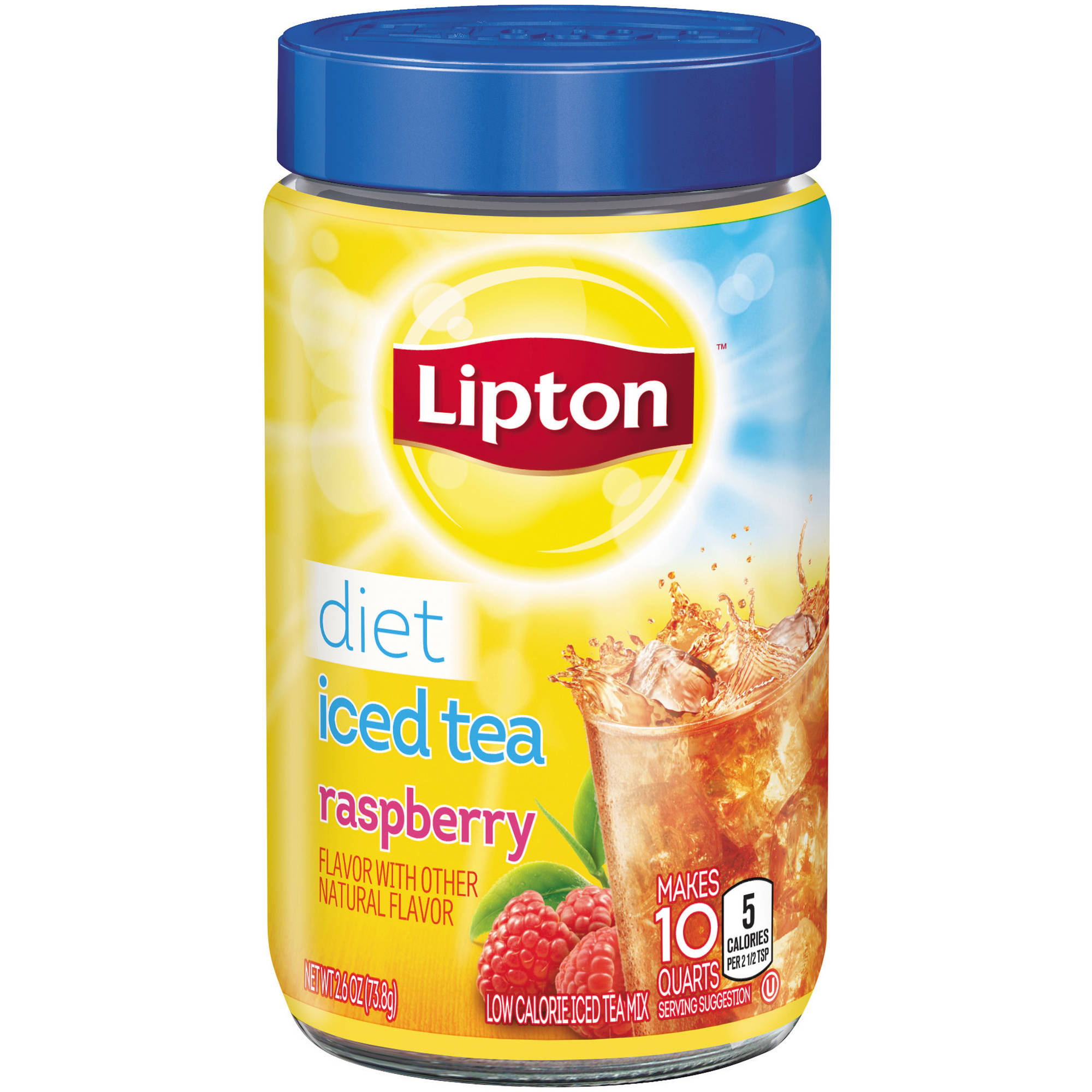 Lipton Diet Raspberry Iced Tea Mix, 10 qt