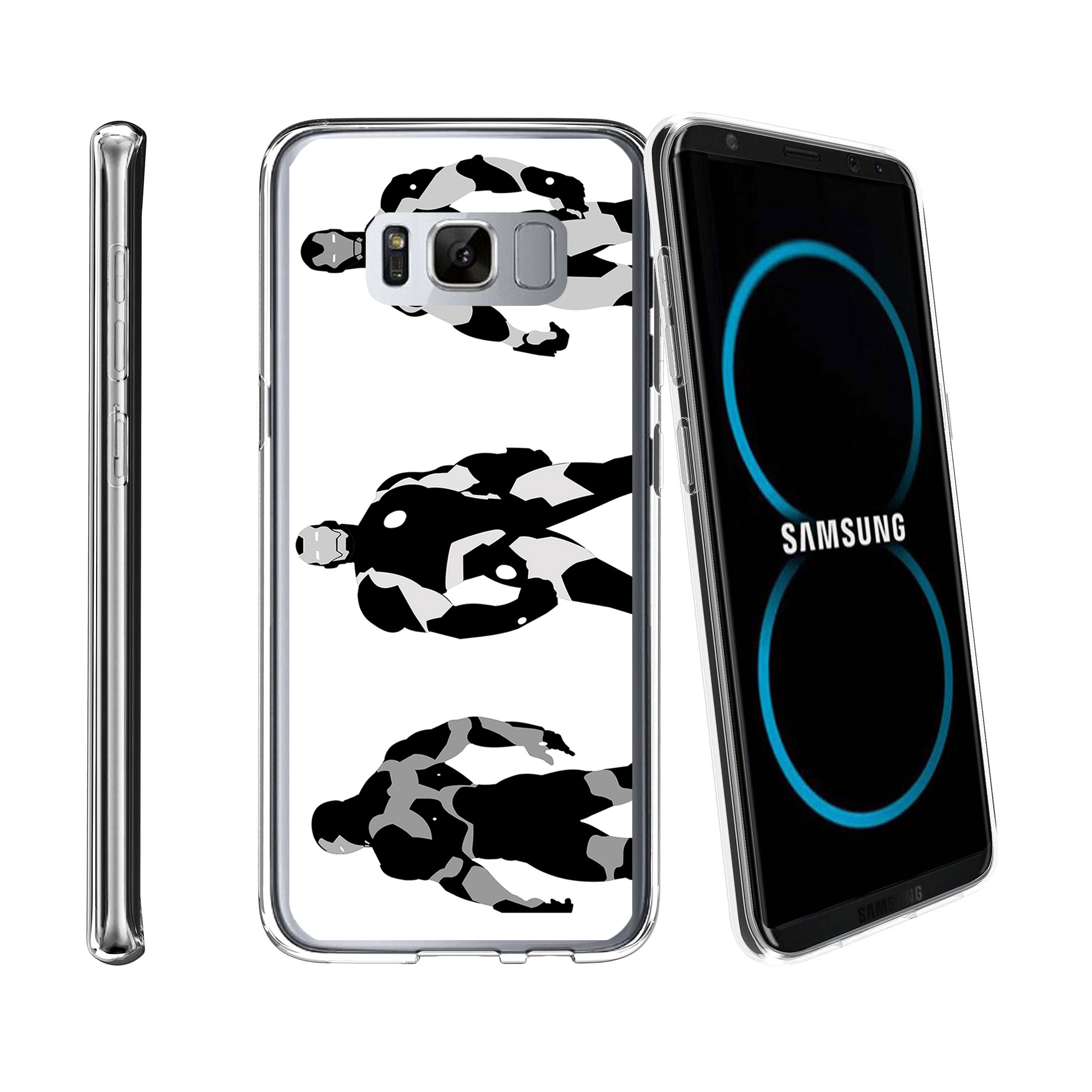 Case for Samsung Galaxy S8 Plus | Galaxy S8 Plus Transparent Silicone Case [ Flex Force ] Flexible Clear Case Comic Collection
