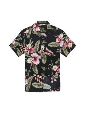 9c29fd89 Product Image Men's Hawaiian Shirt Aloha Shirt M Black Rafelsia Floral.  Hawaii Hangover