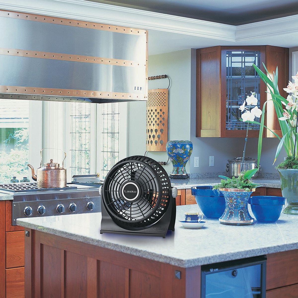 Lasko Breeze Machine Pivoting Floor/Table 2-Speed Fan, Model #507 ...