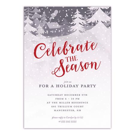 Personalized Holiday Invitation - Winter (Holiday Invitations)