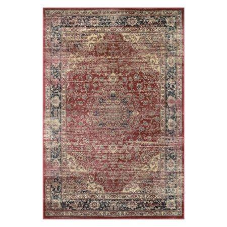 - Couristan Zahara Persian Vase/Red/Black/Oatmeal 2\'7