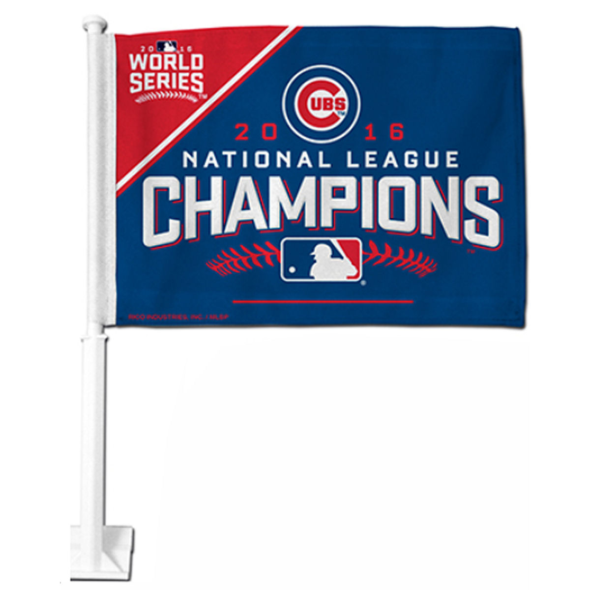 "Chicago Cubs NL Champs 12"" x 15"" Car Flag"