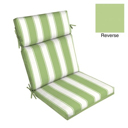 Better Homes & Gardens Green Stripe 44 x 21 in. Outdoor Dining Chair Cushion with EnviroGuard