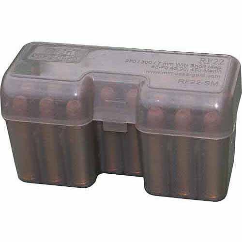 MTM RF22 Flip Top, LM Series, 22-Round Ammo Case, Smoke
