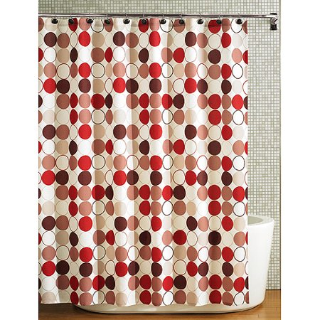 beige and brown shower curtain. Hometrends Nu Cirque Fabric Shower Curtain  Red and Brown