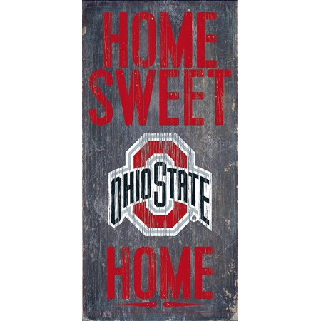 Ohio State Buckeyes Wood Sign - Home Sweet Home 6x12, Package Quantity: 1 By Fan Creations