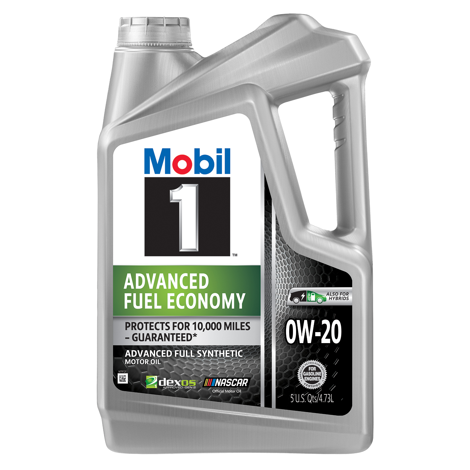 Mobil 1 Advanced Fuel Economy Full Synthetic Motor Oil 0W-20, 5