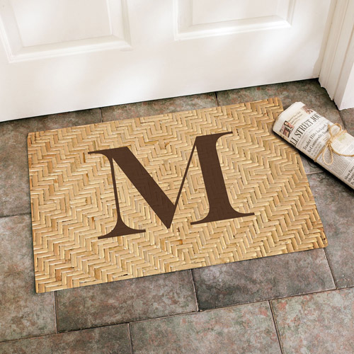 Personalized Simple Initial Doormat