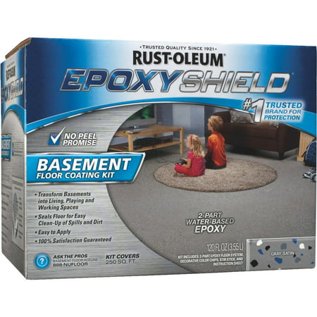 Rust Oleum Epoxyshield Basement Floor Coating Kit
