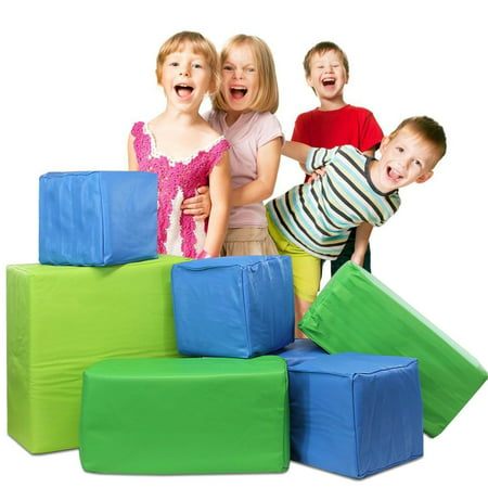 Foam Toy Blocks (Weizzer Toys Memory Foam Soft Building Jumbo Blocks Set for Kids - 7 Pieces)