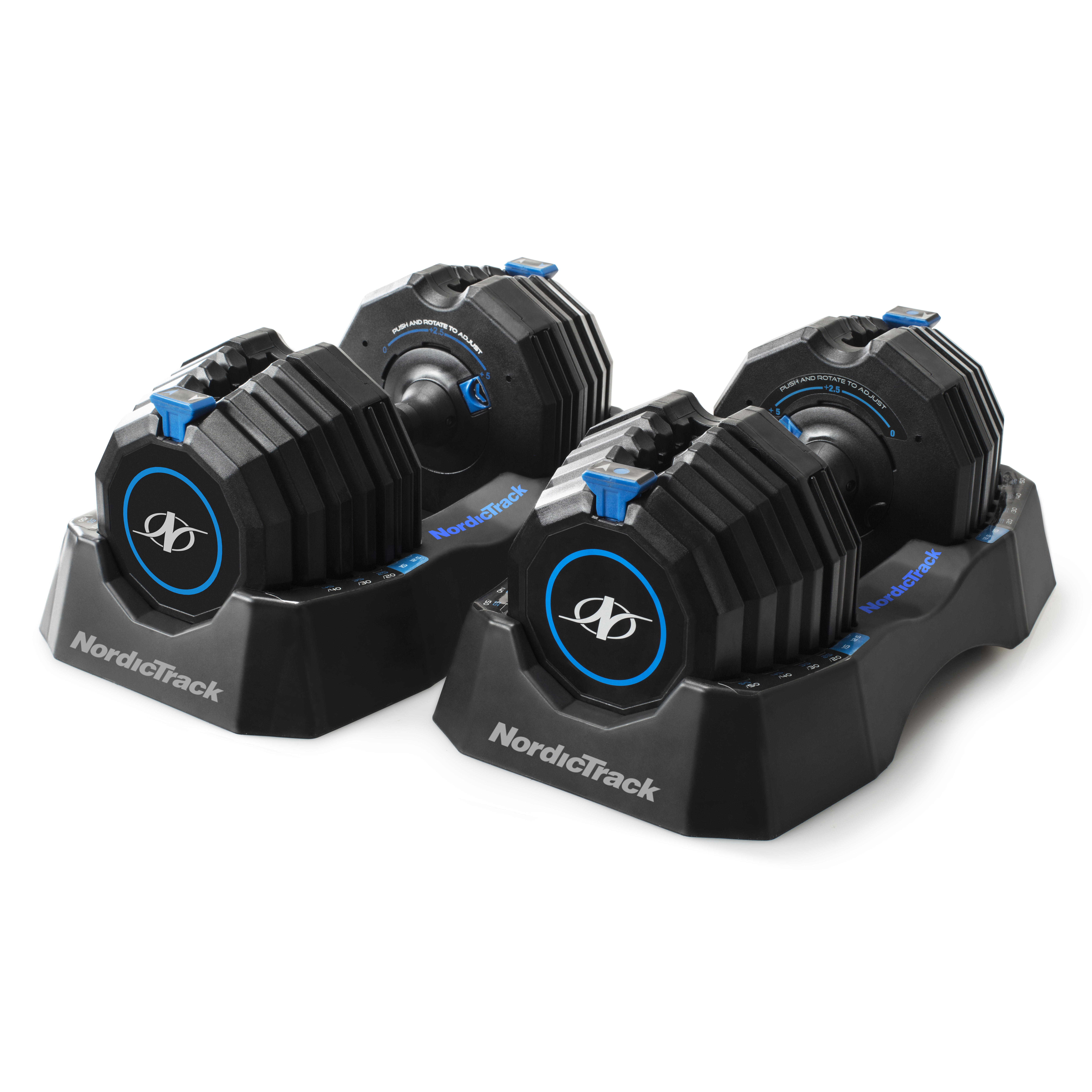 Nordictrack Select-a-Weight 55 Lb. Adjustable Dumbbell Set, Adjusts from 10-55 Lbs, Pair