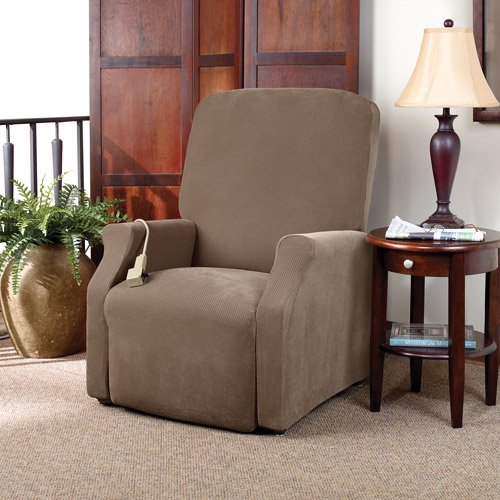 Remarkable Sure Fit Stretch Pique Lift Recliner Slipcover Large Andrewgaddart Wooden Chair Designs For Living Room Andrewgaddartcom