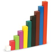 Learning Resources Cuisenaire Rods Intro Wood Set, Set of 74 Rods, Ages 4+