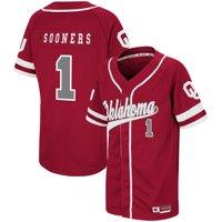 #1 Oklahoma Sooners Colosseum Youth Bam-Bam Baseball Jersey - Crimson