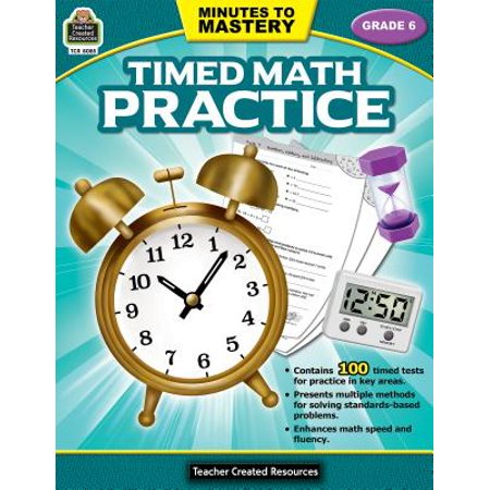 Minutes to Mastery-Timed Math Practice Grade 6 - Math Supplies