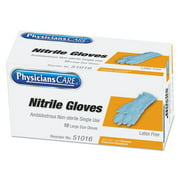 PhysiciansCare Medical Exam Latex Gloves, Large, 10 count