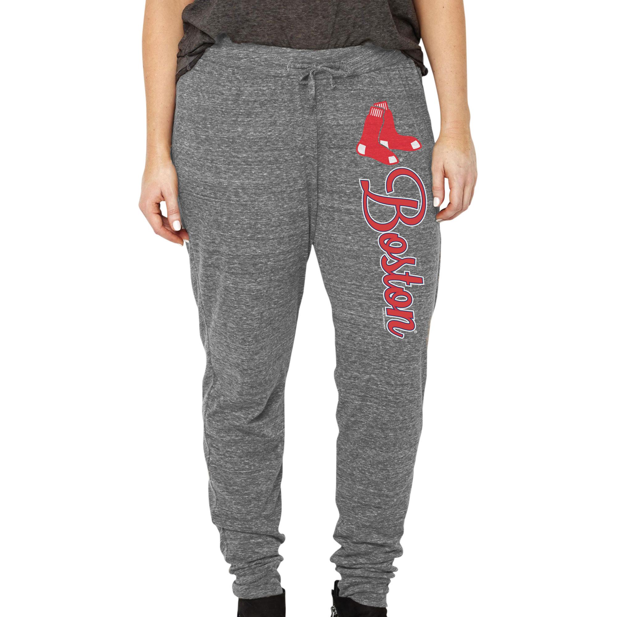 Boston Red Sox Soft as a Grape Women's Plus Size Jogger Pants - Heathered Gray